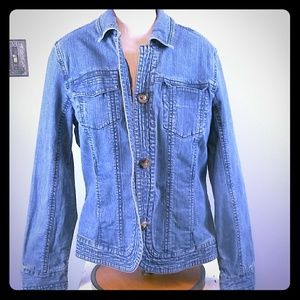 Coldwater creek jeans jacket size 14
